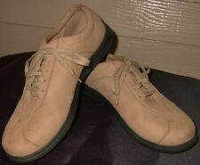 Footsmart tan nubuck leather oxford lace-up walking shoes, 10 M