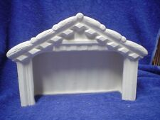 "E315 -Ceramic Bisque 6"" X 9"" X 3""  Nativity Stable - Ready to Paint"