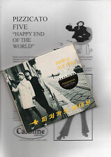 "PIZZICATO FIVE ""HAPPY END OF THE WORL"" RARE CD DIGIPACK+SPANISH PRESS INFO SHEET"