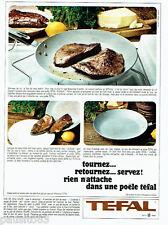 PUBLICITE ADVERTISING 026  1965  TEFFAL poele  foie de veau sauté