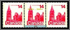 3x CANADA 1978 CANADIAN PARLIAMENT BUILDING FV FACE 42 CENT MNH TRIPLE STAMP LOT