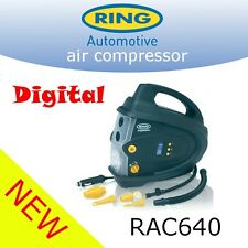 RING RAC640 12V compressore digitale auto ruote pneumatici pompa gonf. PSI BAR RAC630
