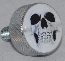 "Chrome Billet ""Ghost Skull"" Knurled Air Cleaner Bolt for Harley Filter Cover"