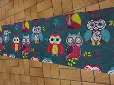 OWL Novità Brillanti Gufi Birds artigianato Remnant tessuto materiale Pezzo 155x45cm