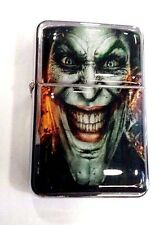 Joker Smile Windproof Refillable Flip Top Oil Lighter