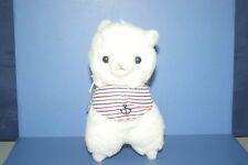 "Arpakasso Alpacasso Vacation Marine White Alpaca Plush Doll JAPAN 6.4""×5.2"""