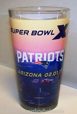 New England Patriots Colored Pint Glass 2014 Super Bowl 49 XLIX Champions