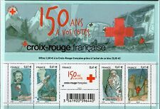 FEUILLET F4910 NEUF XX TIMBRES 4910-4914 - 150 ANS CROIX ROUGE - HENRY DUNANT