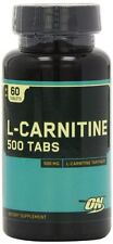 Optimum Nutrition L-Carnitine 500mg 60Tab Amino Acid Weight Loss Muscle Building