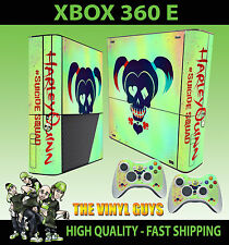 XBOX 360 E HARLEY QUINN SUICIDE SQUAD LOGO HARLEEN QUINZEL SKIN X 2 PAD SKINS