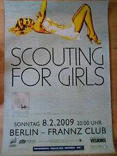 SCOUTING FOR GIRLS 2009 BERLIN -  orig.Concert-Konzert-Tour-Poster-Plakat DIN A1