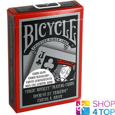 BICYCLE TRAGIC ROYALTY PLAYING CARDS DECK GLOWING GLOWS UNDER BLACK LIGHT USPCC