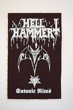 "Hell Hammer Cloth Patch Sew On Badge Black Metal Triptykon Approx 5""X3"" (CP234)"