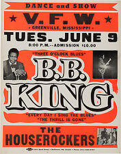 """BB King Greenville 16"""" x 12"""" Photo Repro Concert Poster"""