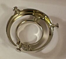 """NICKEL PLATED BRASS CLAMP-ON SHADE HOLDER 2 1/4"""" FITTER LAMP PART 10785NB"""