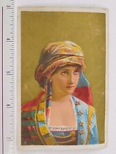 Dr.Thomas' Eclectric Oil Lovely Lady Scarf Turban On Head Ottoman(?)  F58