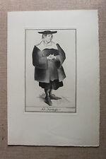 Estampe par Mariette Lydis Molière Tartuffe 1939 - 1/220 ex. sur vélin teinté 1