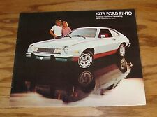 Original 1978 Ford Pinto Sales Brochure 78