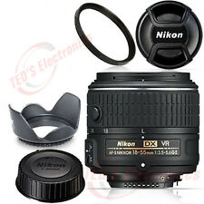 Nikon 18-55mm NIKKOR Zoom Lens f/3.5-5.6G VR II AF-S DX UV Bundle BRAND NEW