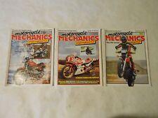 LOT OF 3  1982 MOTORCYCLE MECHANICS FORTNIGHTLY MAGAZINES,YAMAHA,HONDA,GUZZI,AMA