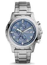 Fossil Dean Chronograph Blue Dial Stainless Steel Men's Watch FS5023