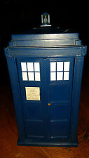 DR DOCTOR WHO TALKING TARDIS MONEY BOX FLASHING LIGHTS AND SOUNDS OPENING DOORS