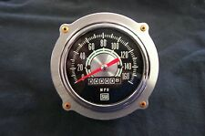 "Aluminum Aviator Bomber Dash Speedometer 3 3/8"" Gauge Panel Rivet Bezel 4-bolt"