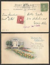 1926 Postcard to Lorain, Ohio with Postage Due