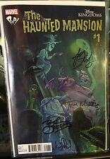 Disney Haunted Mansion Comic 1 Pop! Comics Variant Signed 4X WDI Disneyland