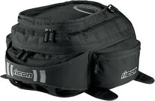 Icon Racing Motorcycle Urban Black Tank Bag 3502-0206
