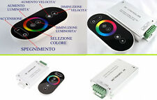 Led controller con telecomando touch. Dimmer regolazione intensità luminosa luce