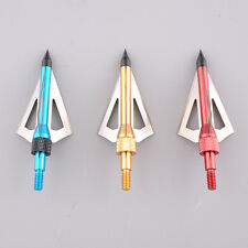 3pcs Hunting Broadheads 100 Grain Fits Crossbow and Compound Bow Arrows