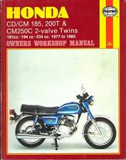 HONDA CD185,CD200,BENLY,CM185 T,CM200 T,CM250 C TWINSTAR,HAYNES MANUAL 1977-1985