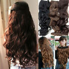 Fashion Women Lady Full Head Clip Curly/Wavy Women Synthetic Hair Extension