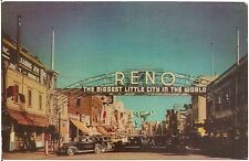 Welcome Arch in Reno NV Postcard Union Oil Series