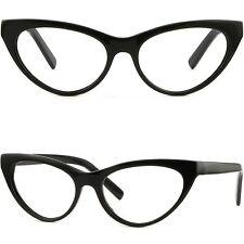 Damen Vollrand Cateye Brillengestell Frauen Cat Optikerbrille Kunstoff Schwarze