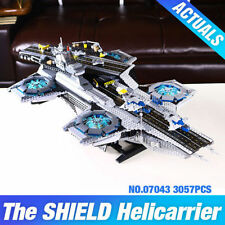 Super Heroes Shield Helicarrier Blocks Toys New 3057Pcs - MOC 76024 DHL Delivery