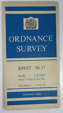 1961 old vintage OS Ordnance Survey 1:25000 First Series map SK 17 Tideswell