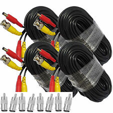 4X 10M BNC RCA Video Power Extension Cable CCTV DVR Camera Security Surveillance