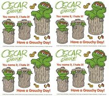Sesame Street Oscar the Grouch Grouchy Scrapbook Stickers 4 Sheets!
