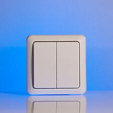 Home Easy Remote Control Double Wall Switch Unit 2G, White