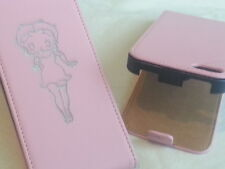Iphone 6 BETTY BOOP GENUINE LEATHER pink flip phone case cover five Apple