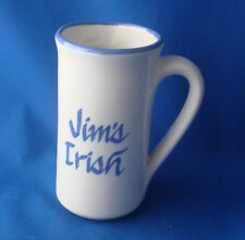 coffee cup diner souvenir mug Jim's Irish 8 ounce tall slender stoneware