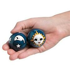 Chinese Baoding Cloisonne Blue Celestial Health Balls Stress Therapy Musical
