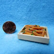 Dollhouse Miniature Crate Filled with Carrots ~ Loose  Great for Market or Store