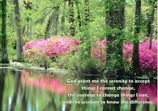 Serenity prayer....nature  -Christian Bible A4 Laminated Picture Poster
