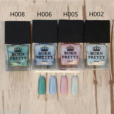 4 Stk 10ml BORN PRETTY Holo Lack Glitzer Super Glanz Nagellack H002/5/6/8