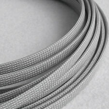 Braided Expandable Cable Loom Auto Harness Wire Sleeving Sheathing 25mm GREY 5m