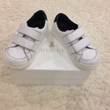 Baby Gucci Boys Sneakers Size 25 With Snakeprint Detail