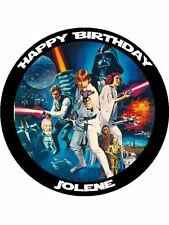 "Star Wars Personalised 7.5"" Birthday Cake Topper on Icing"